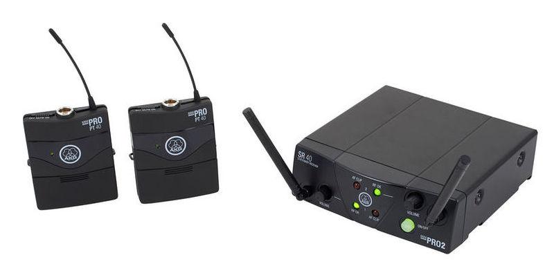 Радиосистема инструментальная AKG WMS40 MINI2 INSTRUMENTAL SET BD ISM2/3 (864.375&864.850) akg y 40