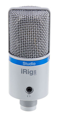 iPad/iPhone микрофон IK Multimedia iRig Mic Studio silver ik multimedia irig powerbridge