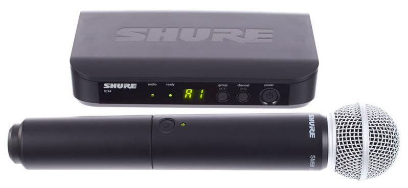 Радиосистема вокальная Shure BLX24E/SM58 K3E 606-638 MHz shure qlxd4e k51 606 670 mhz