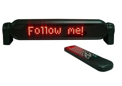 Ibiza Light Red Moving Message With Remote Control