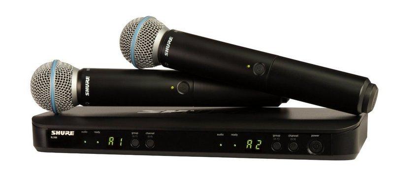 Готовый комплект радиосистемы Shure BLX288E/B58 K3E 606-638 MHz shure qlxd4e k51 606 670 mhz