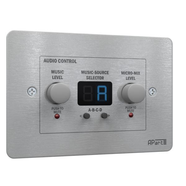 Контроллер акустических систем APart ZONE4R apart pm1122w беспроводная панель управления белого цвета для предусилителя pm1122