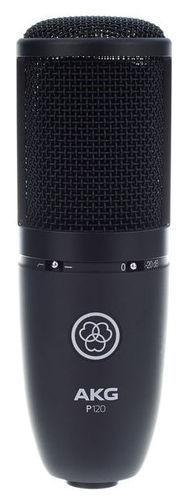 Микрофон с большой мембраной для студии AKG P120 микрофон для ударных инструментов akg c518m
