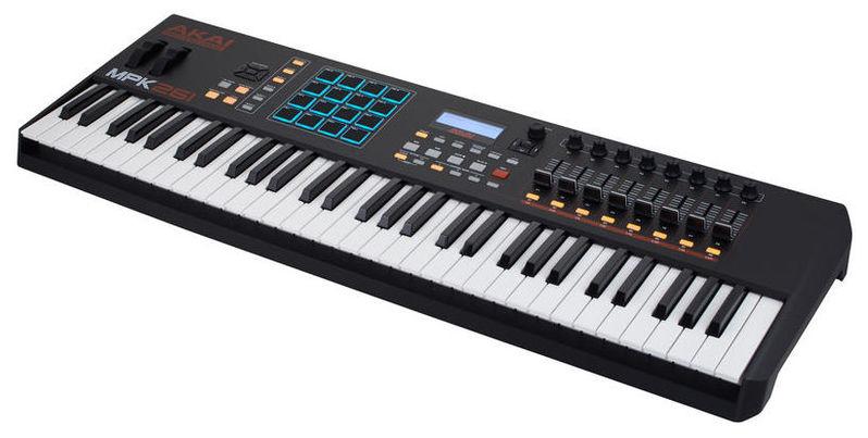 MIDI-клавиатура 61 клавиша AKAI MPK261 midi клавиатура akai pro mpk261 usb