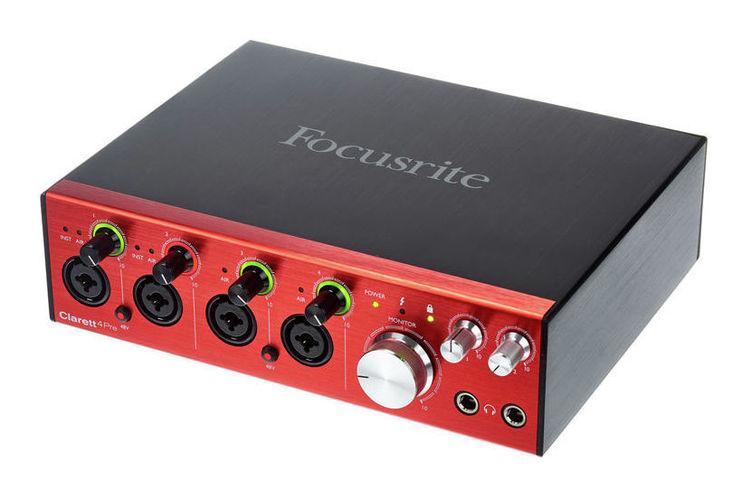 Звуковая карта внешняя Focusrite CLARETT 4PRE звуковая карта внешняя focusrite itrack dock