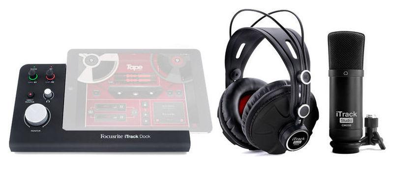 цена на Звуковая карта внешняя Focusrite iTrack Dock Studio Pack