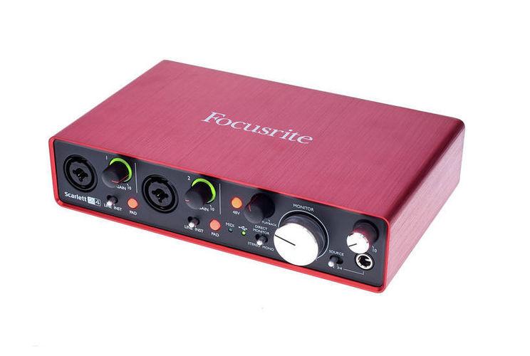 Звуковая карта внешняя Focusrite Scarlett 2i4 2nd Gen звуковая карта focusrite scarlett 2i2 2nd gen