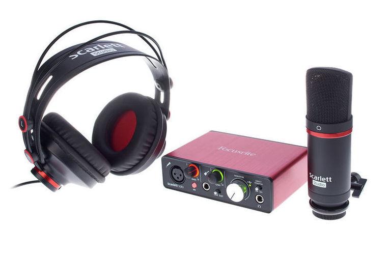 Звуковая карта внешняя Focusrite Scarlett Solo Studio Pack 2nd Gen звуковая карта focusrite scarlett 2i2 2nd gen