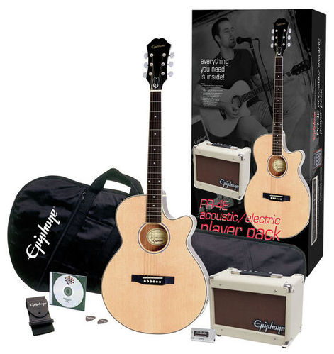 Epiphone PR-4E Acoustic Player Pack epiphone epiphone pick