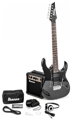Комплект с электрогитарой Ibanez Jumpstart IJRG200-BK ibanez gst62 bk guitar strap