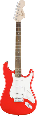 Стратокастер Fender Squier Affinity Strat Race Red fender fender squier affinity series stratocaster® rosewood fingerboard race red
