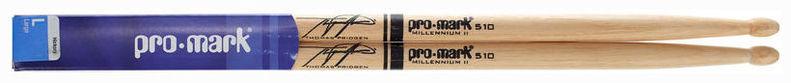 Палочки для ударных с автографами ProMark TX510W 510 Thomas Pridgen универсальные палочки для ударных promark sd1w sd1