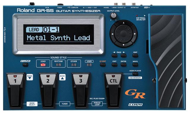 Гитарный процессор для электрогитары Roland GR-55GK хай хэт и контроллер для электронной ударной установки roland fd 9 hi hat controller pedal