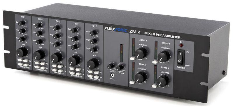 Рэковый микшер Swissonic ZM 4 рэковый микшер behringer eurorack pro rx1202fx