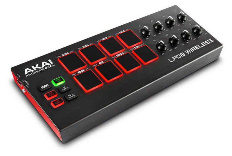 MIDI, Dj контроллер AKAI LPD8 Wireless akai pro mpc fly usb midi