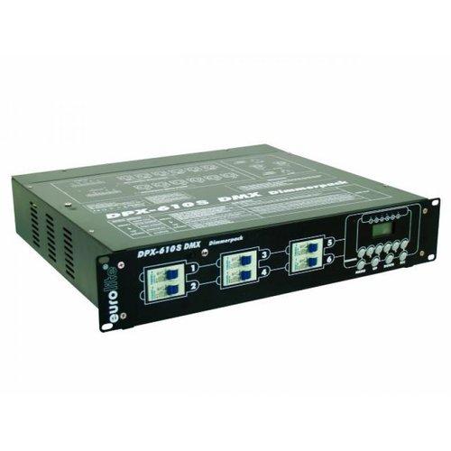 Диммер, свитчер EUROLITE DPX-610 S DMX Dimmer Schuko генератор дыма eurolite dynamic fog 600