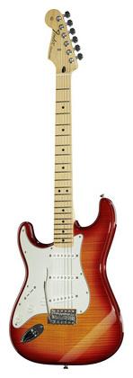 Гитара для левшей Fender Standard Strat Plus Top LH ACB стратокастер fender standard strat mn lpb