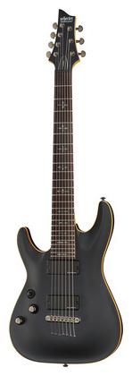 Гитара для левшей Schecter Demon 7 satin black Left schecter damien elite 7