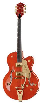 Полуакустическая гитара Gretsch G6120T Nashville Orange Stain полуакустическая гитара gretsch brian setzer g6120 sslvo