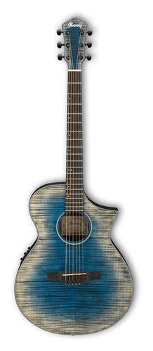 Гитара иной формы Ibanez AEWC32FM-GBL электроакустическая гитара ibanez aw65ece lg