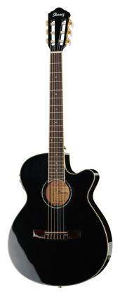 Классическая гитара 4/4 Ibanez AEG10NII-BK электроакустическая гитара ibanez aw65ece lg