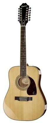 12-струнная гитара Epiphone DR-212 нaконечники литые нa свaи