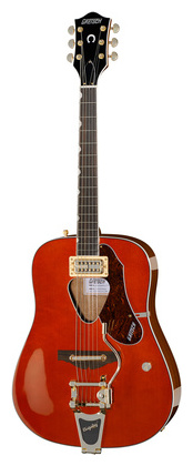 Дредноут Gretsch G5034TFT Rancher Bigsby полуакустическая гитара gretsch brian setzer g6120 sslvo