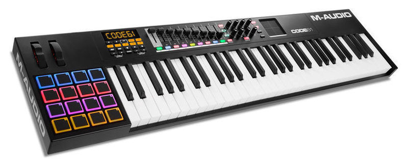 MIDI-клавиатура 61 клавиша M-Audio CODE 61 Black midi клавиатура 61 клавиша miditech i2 61 black edition