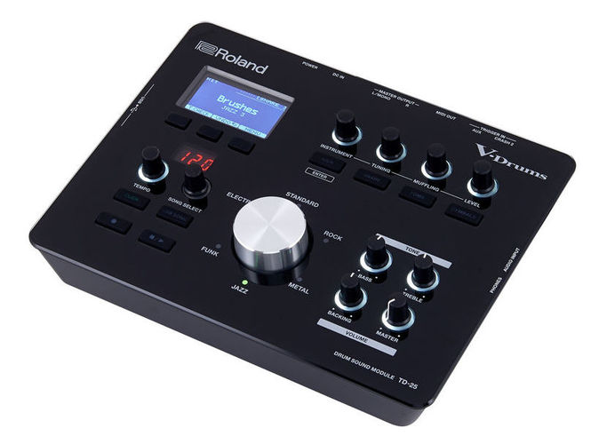 Звуковой модуль для установок Roland TD-25 E-Drum Module внешний звуковой модуль егерь авзм без кабеля