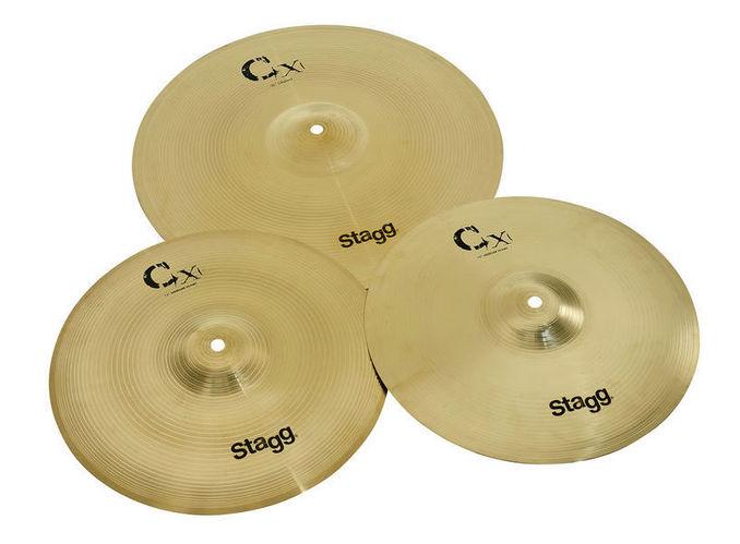 Набор барабанных тарелок STAGG CXA Cymbal Set Brass Starter handmade b20 cymbal dragon 16 o zone cymbal