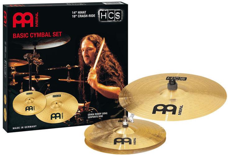 Набор барабанных тарелок Meinl HCS Cymbal Set Starter Eco hcs hcs hc077awine26