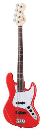 4-струнная бас-гитара Fender Squier Affinity Jazz RW Red fender squier affinity pj bass bwb pg rcr