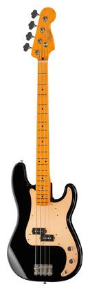 4-струнная бас-гитара Fender 50s P-Bass Lacquer MN BK телекастер fender 72 telecaster custom mn bk