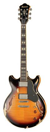 Электрогитара иных форм Ibanez AMV100FMD-YSL Artstar Vintage акустические гитары ibanez москва