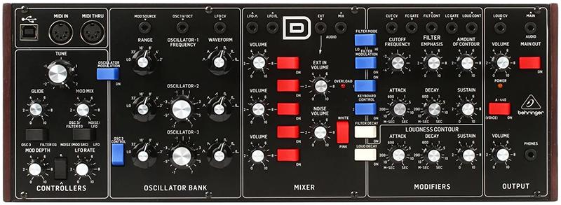 Синтезатор Behringer Model D behringer p16 d
