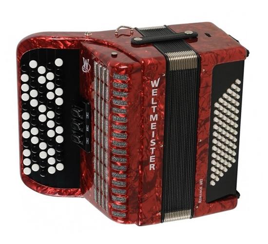 Аккордеоны Weltmeister Romance 602 60/72/II/3 Red аккордеоны weltmeister s topas iv 37 96 iv 11 5 bk