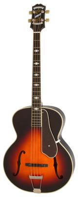 4-струнная полуакустическая бас-гитара Epiphone Masterbilt De Luxe Bass VS 5 струнная бас гитара esp ltd f 5e ns