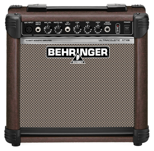 Усилитель для акустической гитар Behringer ULTRACOUSTIC AT108 профессиональный усилитель мощности behringer inuke nu12000