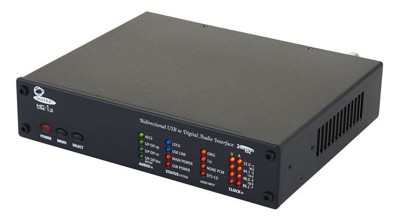 ЦАП-АЦП конвертер Mutec MC-1.2 black цап ацп конвертер benchmark dac3 hgc b