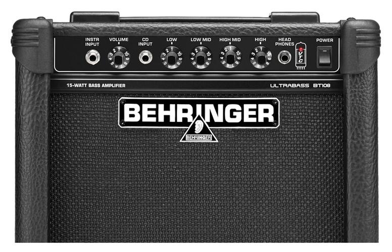 Усилитель для бас-гитары Behringer ULTRABASS BT108 профессиональный усилитель мощности behringer inuke nu12000