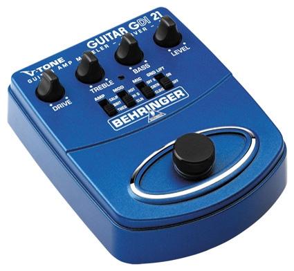 Гитарный процессор для акустической гитары Behringer V-TONE GUITAR DRIVER DI GDI21 пульт behringer x1622usb