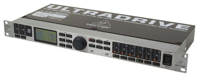 Кроссовер для звука Behringer DCX2496LE Ultradrive контроллер аудиопроцессор behringer кроссовер cx2310 super x