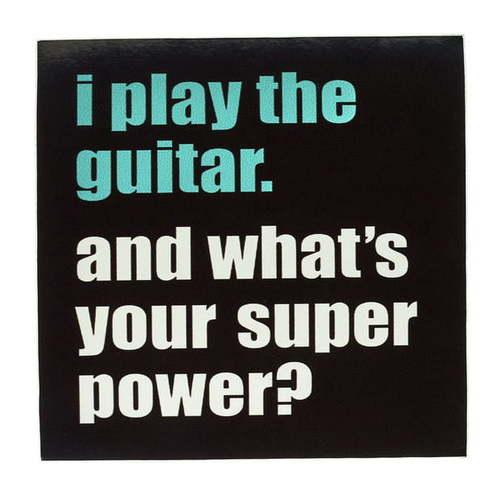 Bandshop Sticker I play the Guitar наклейки интерьерные сноубум наклейка ролл пвх 7 6x200см мультицвет 3 дизайна