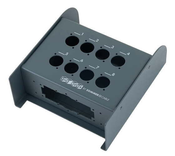 Stage box Sommer Cable Stagebox 8 Channel MKII high quality kl audio 12 channel 8 x 4 channel 50 pro audio low profile stage box snake cable 8x4x50