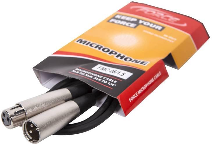 Кабель микрофонный FORCE FMC-05/1,5 кабель микрофонный onetech pro five xlr xlr 8 m