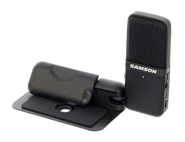 USB микрофон Samson Go Mic USB Black samson samson живите go mic прямой usb клип на конденсаторный микрофон запись конференции игра мобильные компьютеры пшеницы серебро