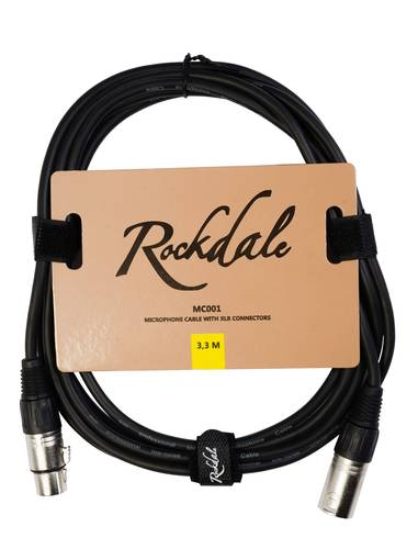 Кабель микрофонный Rockdale MC001.3.3 Microphone cable with XLR connectors, 3,3 meters rockdale xlr015 3p