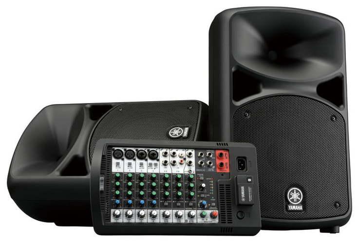 Комплект акустических систем Yamaha Stagepas 600BT микшер yamaha ktv