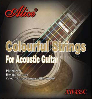 Струны для акустической гитары Alice AW435C алиса алиса гитары струны стали гитарной струны акустической гитарной струны струны акустическая гитара 1 6 наборов строк 6 прикреплены 208 l