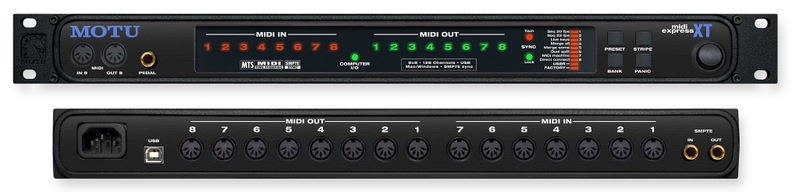 Звуковая карта внешняя MOTU MIDI Express XT звуковая карта внешняя motu 16a